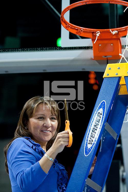 SPOKANE, WA - MARCH 28, 2011: Marcella Shorty, Stanford Women's Basketball vs Gonzaga, NCAA West Regional Finals at the Spokane Arena on March 28, 2011.