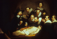 Rembrandt:  Anatomy Lesson by Prof. Nic.  Tulp.   Rijksmuseum, Amsterdam.  Reference only.