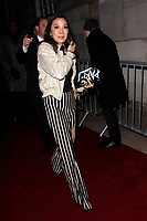 LONDON, ENGLAND - FEBRUARY 09 :  Michelle Yeoh leaves the Charles Finch and Chanel pre-BAFTA party at Loulou's on February 09, 2019 in London, England.<br /> CAP/AH<br /> &copy;Adam Houghton/Capital Pictures