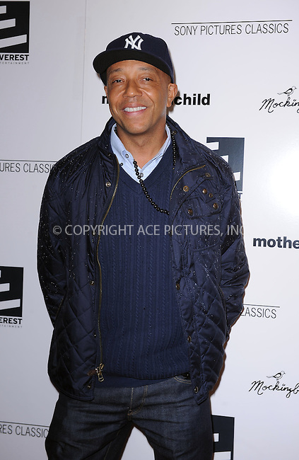 WWW.ACEPIXS.COM . . . . . ....April 26 2010, New York City....Russell Simmons arriving at the premiere of 'Mother and Child' at the Paris Theatre on April 26, 2010 in New York City.....Please byline: KRISTIN CALLAHAN - ACEPIXS.COM.. . . . . . ..Ace Pictures, Inc:  ..(212) 243-8787 or (646) 679 0430..e-mail: picturedesk@acepixs.com..web: http://www.acepixs.com