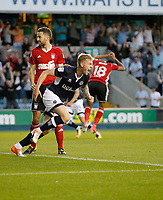 GOAL - Millwall's Aiden O'Brien scores during the Sky Bet Championship match between Millwall and Ipswich Town at The Den, London, England on 15 August 2017. Photo by Carlton Myrie.
