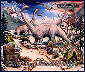 Steven-Michael, REALISTIC ANIMALS, REALISTISCHE TIERE, ANIMALES REALISTICOS, paintings+++++,USMG121,#a#, EVERYDAY,dino,dinos