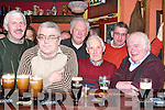 HERBERTS: Toasting to the opening of Herberts Bar, Kilflynn, on Saturday night were locals from Kilflynn and Abbeydorney. L-r: Eamon Leen, John Mike Sullivan, Mike Leen, Donie Walsh, Eamon Kennelly and Paudie Fuller..