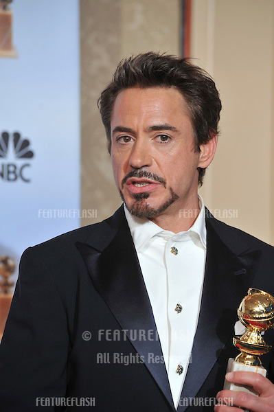 Robert Downey Jr at the 67th Golden Globe Awards at the Beverly Hilton Hotel..January 17, 2010  Beverly Hills, CA.Picture: Paul Smith / Featureflash