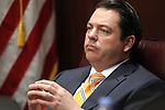 Nevada Senate Majority Leader Michael Roberson, R-Henderson, listens to testimony in committee at the Legislative Building in Carson City, Nev., on Wednesday, March 18, 2015. <br /> Photo by Cathleen Allison