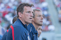 Carson, CA - Sunday, February 8, 2015 assistant coach Andreas Herzog and head coach Jurgen Klinsmann of the USMNT. The USMNT defeated Panama 2-0 during an international friendly at the StubHub Center.