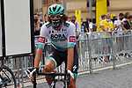 Daniel Oss (ITA) Bora-Hansgrohe arrives at sign on before the start of Stage 1 of Tour de France 2020, running 156km from Nice Moyen Pays to Nice, France. 29th August 2020.<br /> Picture: Bora-Hansgrohe/BettiniPhoto | Cyclefile<br /> All photos usage must carry mandatory copyright credit (© Cyclefile | Bora-Hansgrohe/BettiniPhoto)