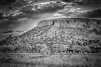 Nueve Cruces - New Mexico - B&W (9 Crosses) Chapel