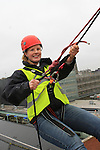 Julie McManus at the DAR abseil off the D Hotel..(Photo credit should read Jenny Matthews www.newsfile.ie)....This Picture has been sent you under the conditions enclosed by:.Newsfile Ltd..The Studio,.Millmount Abbey,.Drogheda,.Co Meath..Ireland..Tel: +353(0)41-9871240.Fax: +353(0)41-9871260.GSM: +353(0)86-2500958.email: pictures@newsfile.ie.www.newsfile.ie.