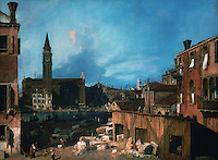 "Venice:  ""The Stonemason's Yard"" by Canaletto.   Reference only."