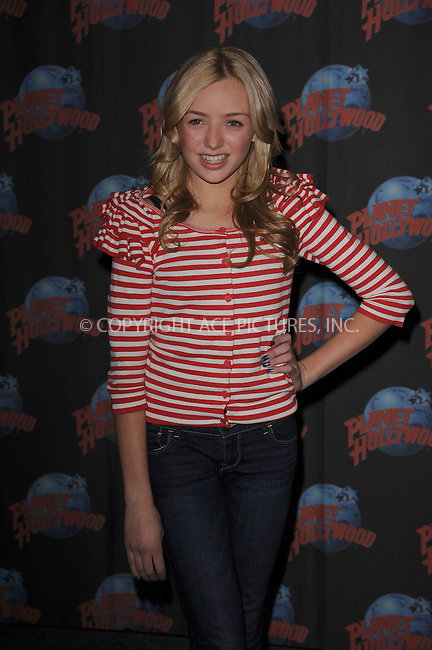 "WWW.ACEPIXS.COM . . . . . .January 13, 2012...New York City.... Peyton List appears at Planet Hollywood Times Square to promote the Disney Chanel series  ""Jessie"" on January 13, 2012 in New York City.....Please byline: KRISTIN CALLAHAN - ACEPIXS.COM.. . . . . . ..Ace Pictures, Inc: ..tel: (212) 243 8787 or (646) 769 0430..e-mail: info@acepixs.com..web: http://www.acepixs.com ."