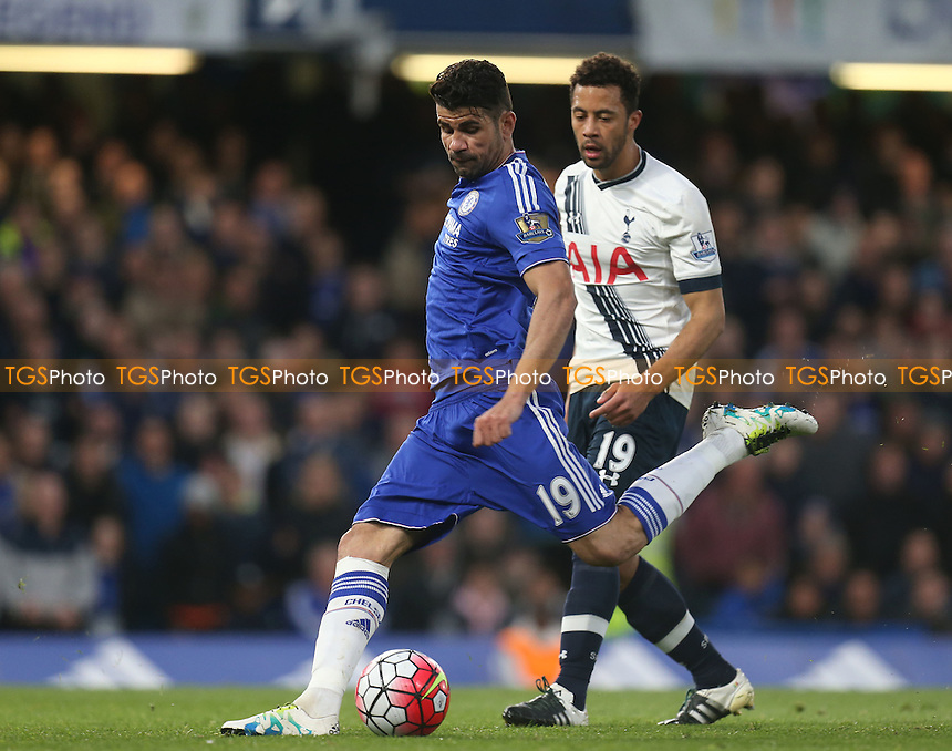 Diego Costa of Chelsea and Mousa Dembele of Tottenham Hotspur during Chelsea vs Tottenham Hotspur, Barclays Premier League Football at Stamford Bridge on 2nd May 2016