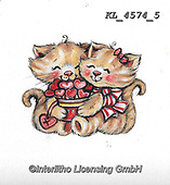 VALENTINE, VALENTIN, paintings+++++,KL4574/5,#v#, EVERYDAY ,sticker,stickers,cat,cats