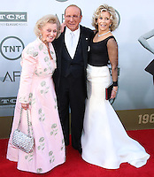 HOLLYWOOD, LOS ANGELES, CA, USA - JUNE 05: Barbara Davis, Clive Davis, Jane Fonda at the 42nd AFI Life Achievement Award Honoring Jane Fonda held at the Dolby Theatre on June 5, 2014 in Hollywood, Los Angeles, California, United States. (Photo by Xavier Collin/Celebrity Monitor)