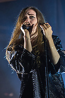 20th July 2014: Swedish indie pop singer songwriter Lykke Li headlines the BBC 6 Music stage on the fourth day of the 9th edition of the Latitude Festival, Henham Park, Suffolk.<br /> Picture by Stuart Hogben