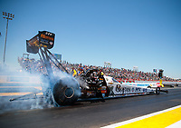 Apr 14, 2019; Baytown, TX, USA; NHRA top fuel driver Austin Prock during the Springnationals at Houston Raceway Park. Mandatory Credit: Mark J. Rebilas-USA TODAY Sports