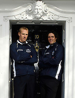 PUTNEY, LONDON, ENGLAND, 06.03.2006, Oxford's Canadian Internationals. left Jake Wetzel and right 2006 Oxford varsity President Barney Williams at the 2006 Presidents Challenge and Boat Race Crew announcement, held at the Winchester Club.   © Peter Spurrier/Intersport-images.com[Mandatory Credit Peter Spurrier/ Intersport Images] Varsity:Boat Race