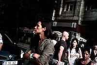 ROMANIA / Bucharest / September 2009 / A woman on the street in the Piata Universitatii area.  © Davin Ellicson / Anzenberger