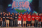 All-stars are introduced at the 2010 South Atlantic League All-Star Game welcome party and festivities Monday night June 21, 2010, at the Wyche Pavilion along the Reedy River in Greenville, S.C. Photo by: Tom Priddy/Four Seam Images