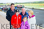 l-r Liam Cox, Kian Clancy, Connie Clancy, Sarah Cox and Mary Clancy from Listowel. at the Listowel Harvest Racing Festival on Sunday