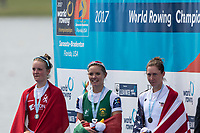 Sarasota. Florida USA.  right. USA LW1X, Mary JONES, wins a bronze medal, at the   2017 World Rowing Championships, Nathan Benderson Park<br /> <br /> Friday  29.09.17   <br /> <br /> [Mandatory Credit. Peter SPURRIER/Intersport Images].<br /> <br /> <br /> NIKON CORPORATION -  NIKON D500  lens  VR 500mm f/4G IF-ED mm. 200 ISO 1/800/sec. f 5.6