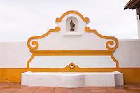 A fountain on the terrace. J Portugal Ramos Vinhos, Estremoz, Alentejo, Portugal