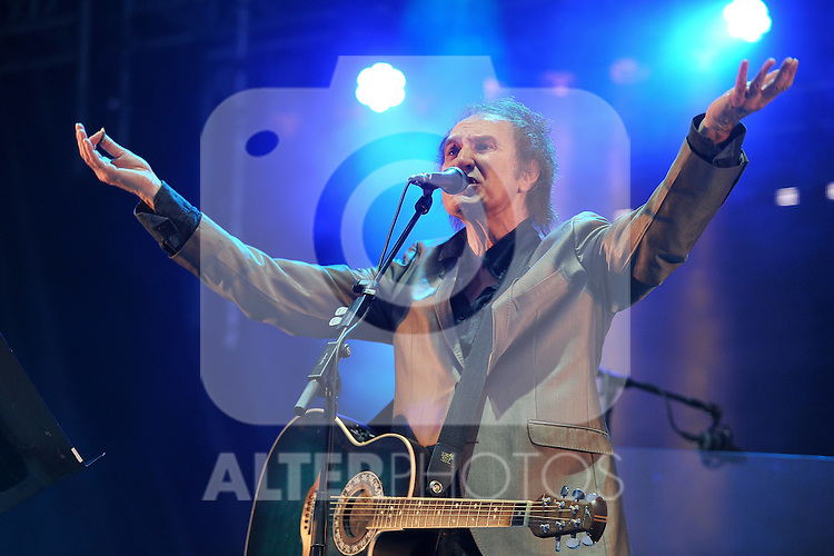 Former leader of rock band The Kinks, Britton Ray Davies performs during the first day of the 49th Jazzaldia Jazz festival of San Sebastian, Spain on July 23, 2014