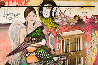 In Chile ,Valparaiso is a very cultural city where every walls<br />  can show graffiti .<br /> Au Chili ,Valparaiso est une ville très culturelle ou chaque mur peut montrer un graffiti.