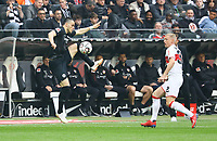 Filip Kostic (Eintracht Frankfurt) gegen Andreas Beck (VfB Stuttgart) - 31.03.2019: Eintracht Frankfurt vs. VfB Stuttgart, Commerzbank Arena, DISCLAIMER: DFL regulations prohibit any use of photographs as image sequences and/or quasi-video.