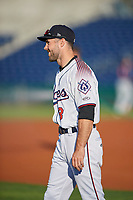 Matt Szczur (8) of the Reno Aces before the game against the Nashville Sounds at Greater Nevada Field on June 5, 2019 in Reno, Nevada. The Aces defeated the Sounds 3-2. (Stephen Smith/Four Seam Images)