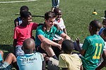 08.01.2019, Safe-Hub Diepsloot, Johannesburg, RSA, TL Werder Bremen Johannesburg Tag 06<br /> <br /> im Bild / picture shows <br /> Ilia Gruev (Werder Bremen #28), <br /> beim Besuch des Safe-Hub Diepsloot, Johannesburg im Rahmen des Trainingslagers in Südafrika, <br /> <br /> ** Attention * ** Attention * <br /> Only to be used for the purpose of documenting the Safe-Hub visit on 08 January 2019<br /> <br /> Foto © nordphoto / Ewert