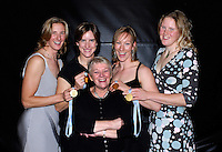 [Mandatory Credit, Peter Spurier/ Intersport Images].Lords, London, 03.02.2007, GB Rowing Teams Dinner,  left, Sarah WINCKLESS, Katherine GRAINGER, Debbie FLOOD and Frances HOUGHTON and Diana THOMPSON, [Photo, Peter Spurrier/Intersport-images].  [Mandatory Credit, Peter Spurier/ Intersport Images].