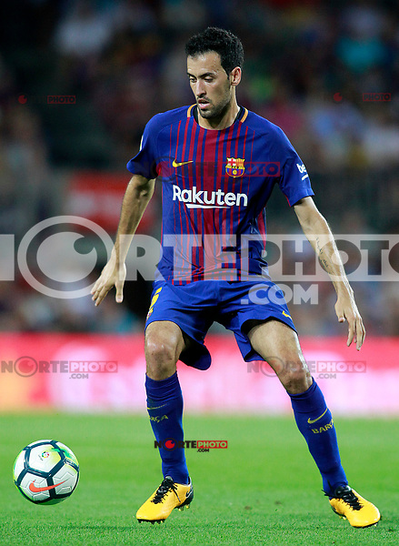 FC Barcelona's Sergio Busquets during Joan Gamper Trophy. August 7,2017. (ALTERPHOTOS/Acero) /NortePhoto.com