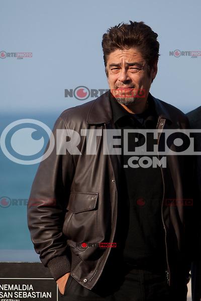 Puerto Rican actor Benicio del Toro presents the film: 'Paradise Lost' during the 62st San Sebastian Film Festival in San Sebastian, Spain. September 26, 2014. (ALTERPHOTOS/Caro Marin) /NortePhoto.com