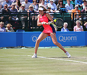 June 16th 2017, Nottingham, England;WTA Aegon Nottingham Open Tennis Tournament day 7;  Johanna Konta of Great Britain in action as she defeats Ashleigh Barty of Australia in two sets; Konta won 6-3, 7-5 to reach the semi finals