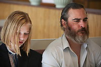 You Were Never Really Here (2017)  <br /> Joaquin Phoenix and Ekaterina Samsonov<br /> *Filmstill - Editorial Use Only*<br /> CAP/KFS<br /> Image supplied by Capital Pictures