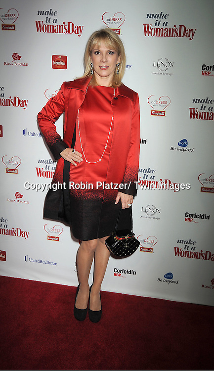 Ramona Singer in St John dress and coat and Chanel vintage purse attends Woman's Day Red Dress Awards on February 15, 2012 at Jazz at Lincoln Center in New York City. Dr Oz, Star Jones and US Surgeon General Dr Regina Benjamin were honored.