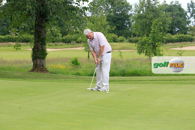 Ian Smyth (Clandeboye) on the 7th green during Round 1 of the Leinster Seniors Amateur Open Championship at Enniscorthy Golf Club on Tuesday 23rd June 2015.<br /> Picture:  Thos Caffrey / www.golffile.ie