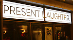 Theatre Marquee for the Broadway Opening Night  curtain call for 'Present Laughter' starring Kevin Kline at the St. James Theatre on April 5, 2017 in New York City.