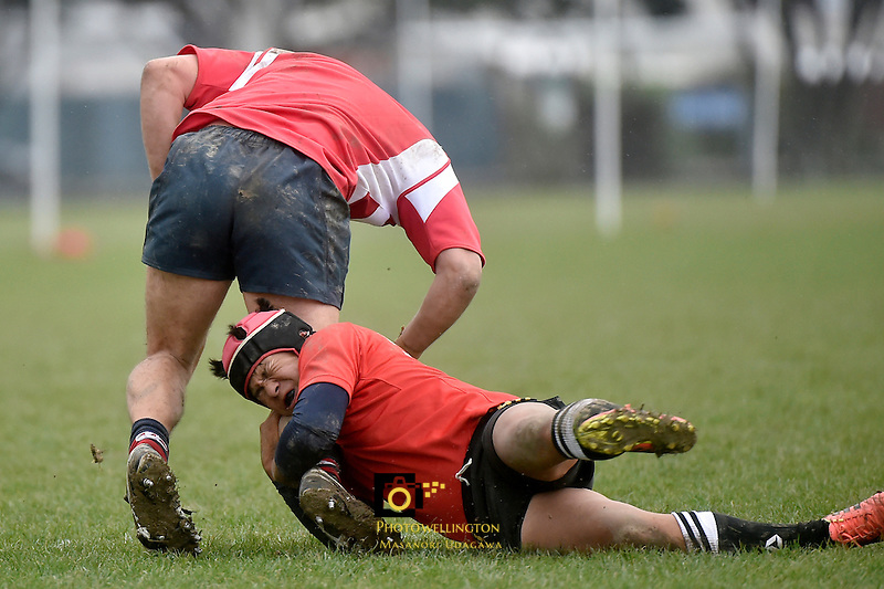Rugby and Beyond - Japan Team v HIBS at Petone Recreation, Lower Hutt, New Zealand on Sunday 26 July 2015.<br /> Photo by Masanori Udagawa. <br /> www.photowellington.photoshelter.com.