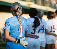 STANFORD, CA - August 30, 2019: Lauren Rood at Maloney Field at Laird Q. Cagan Stadium. The Cardinal defeated the University of Pennsylvania Quakers 5-1.