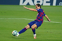 23rd June 2020, Camp Nou, Barcelona, Spain; La Liga Football league, FC Barcelona versus Athletico Bilbao;  Ivan Rakitic shoots and scores for 1-0 in the 71st minute