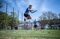 April 21st 2020; Karlsruher, Germany; Lukas Grozurek (KSC) Team training during the covid-19 pandemic