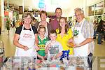 TASTE OF KERRY: Enjoying the Taste of Kerry at the Manor West shopping centre food fair on Saturday l-r: Ann Perry (Skellig Pantry), Anne Maria, Emma. JD, Paddy and Eilish Cotter, Daugh and Harry Perry (Skellig Pantry).