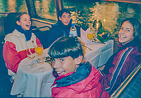 Netherlands, November 1997, NIKE junior tour, Rafael Nadal (ESP) on a boat trip trough the Amssterdam chanels