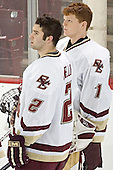 Anthony Aiello, Cory Schneider - The Boston College Eagles completed a shutout sweep of the University of Vermont Catamounts on Saturday, January 21, 2006 by defeating Vermont 3-0 at Conte Forum in Chestnut Hill, MA.