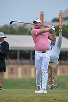 Grayson Murray (USA) watches his tee shot on 10 during Round 2 of the Valero Texas Open, AT&amp;T Oaks Course, TPC San Antonio, San Antonio, Texas, USA. 4/20/2018.<br /> Picture: Golffile | Ken Murray<br /> <br /> <br /> All photo usage must carry mandatory copyright credit (&copy; Golffile | Ken Murray)