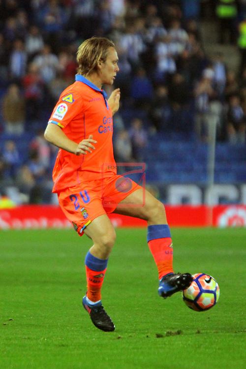 League Santander 2016/2017. Game: 27.<br /> RCD Espanyol vs UD Las Palmas: 4-3.<br /> Alen Halilovic.