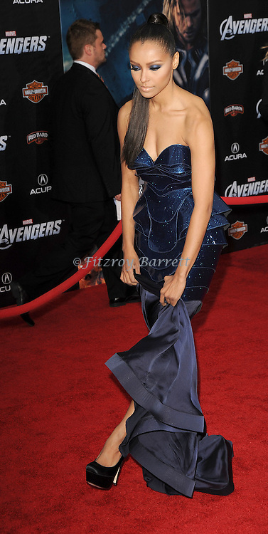 Kat Graham at the premiere of Marvel's The Avengers, held at El Capitan Theatre in Hollywood,  CA. April 11, 2012