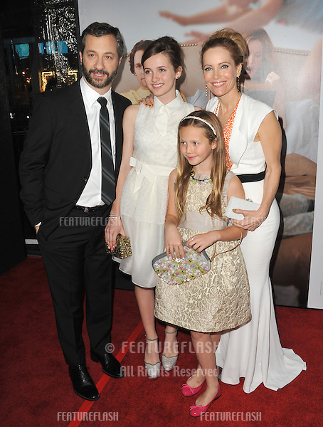 """Leslie Mann & husband director Judd Apatow & daughters Iris & Maude at the world premiere of their movie """"This Is 40"""" at Grauman's Chinese Theatre, Hollywood..December 12, 2012  Los Angeles, CA.Picture: Paul Smith / Featureflash"""